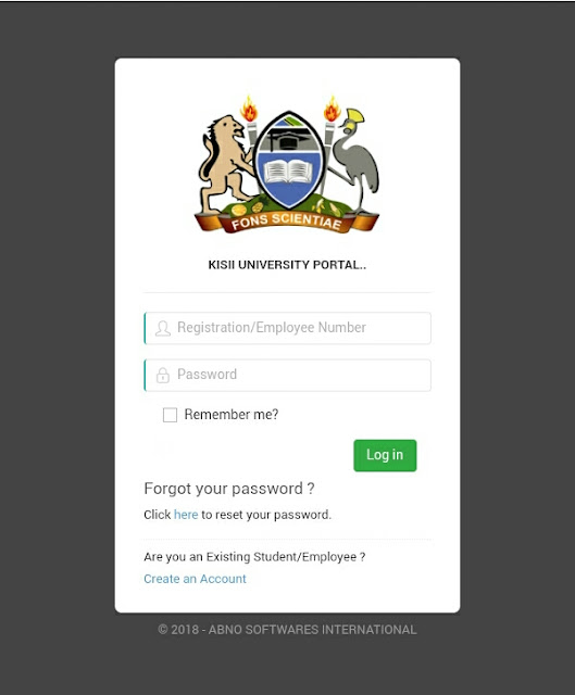 Kisii University Students Portal