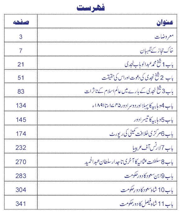 History of Saudi Arabia in Urdu Najd o Hijaz