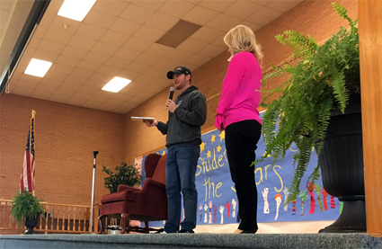 Dale Jr. Spotted at Blountville Elementary in Tennessee