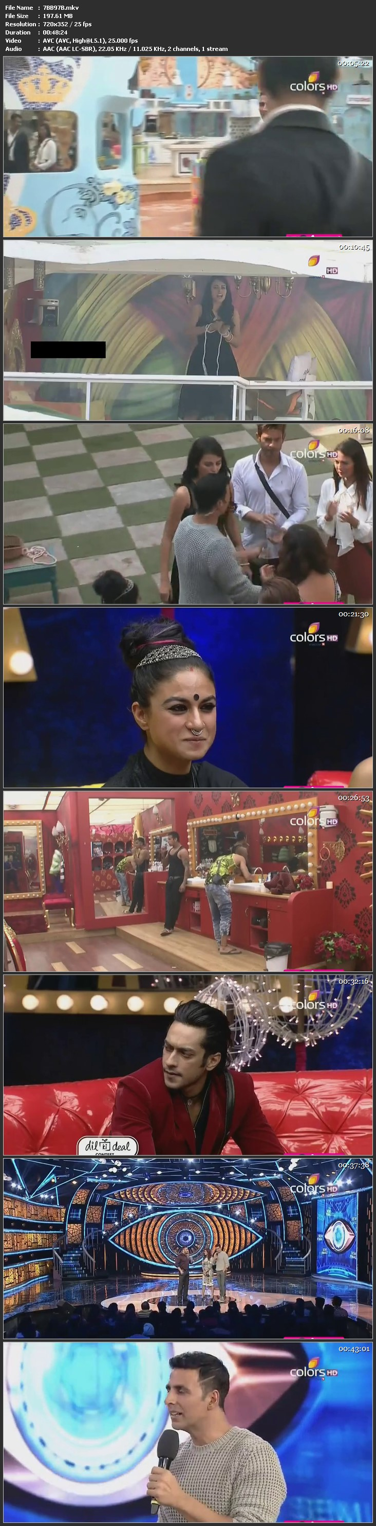 Screenshots Of Hindi Show Bigg Boss 9 16th January 2016 Episode 97 200MB 480P HD
