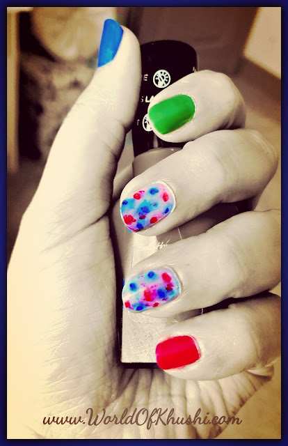 KhushiWorld_HoliWaterColorEffectNailArt