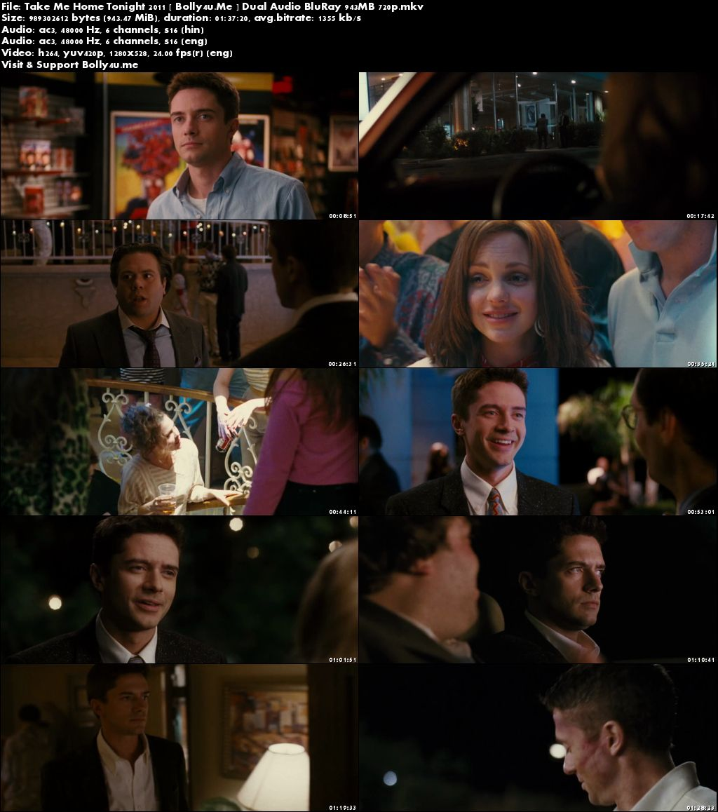 Take Me Home Tonight 2011 BluRay 300MB Hindi Dual Audio 480p Download