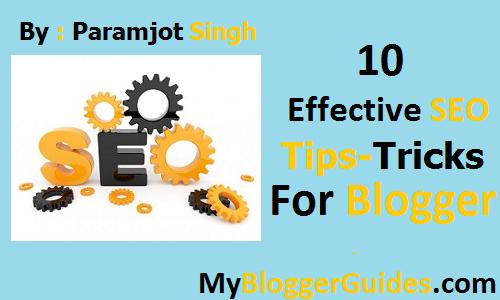 SEO Tips-Tricks For Blogger Blogspot.