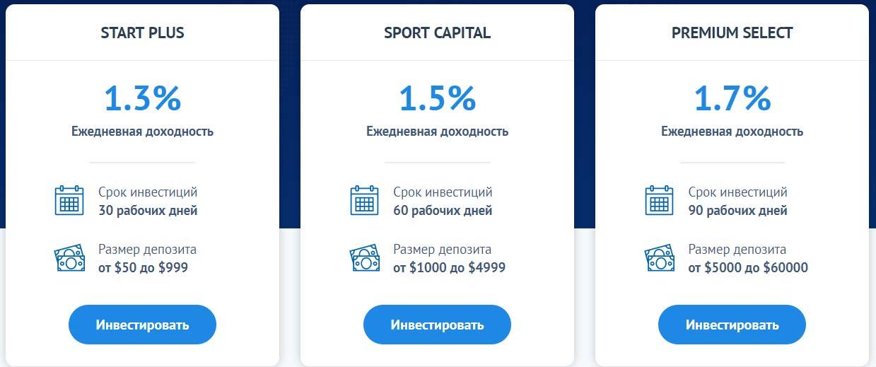 Инвестиционные планы SportLine