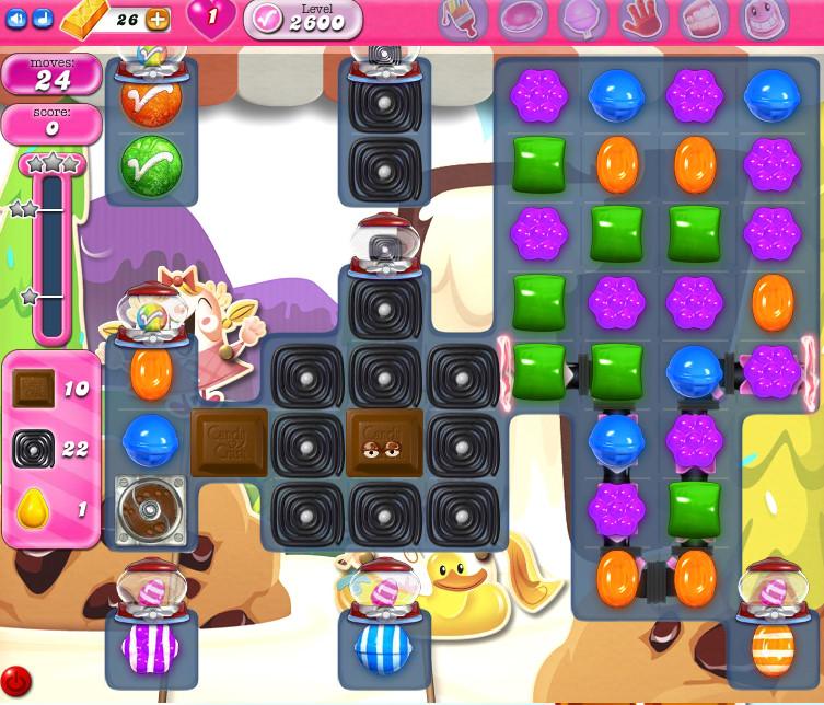 Candy Crush Saga level 2600