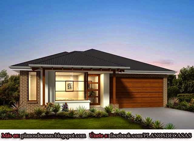 Planos de casas unifamiliares de un piso planos de casas - Fachadas viviendas unifamiliares ...