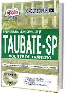 Apostila Concurso Prefeitura de Taubaté 2018 Agente de Trânsito