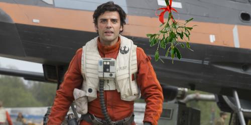 poe-dameron-oscar-isaac-mistletoe-christmas