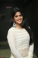 Megha Akash in beautiful White Anarkali Dress at Pre release function of Movie LIE ~ Celebrities Galleries 024.JPG