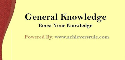General Knowledge MCQ For SSC CGL - Set 9