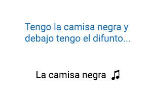 Juanes La Camisa Negra significado de la canción.