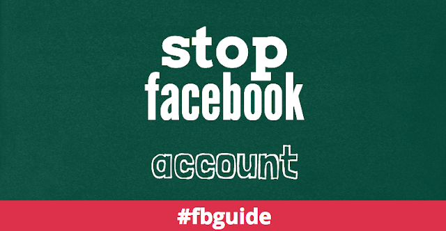 How to stop facebook account