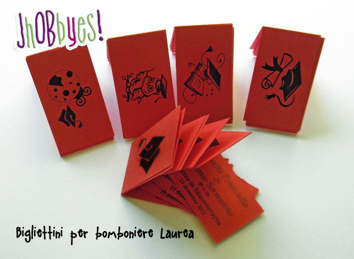 Ben noto Biglietti Laurea | JhOBbyes - Creazioni Handmade & Grafica EX68
