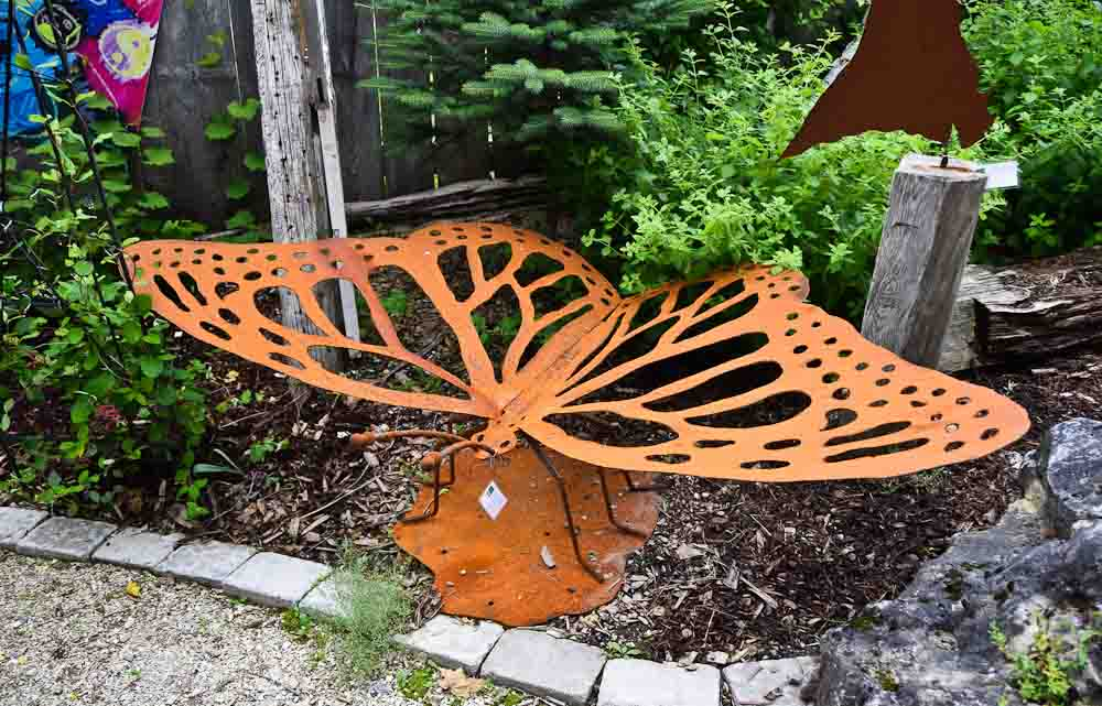 And A Giant Butterfly   This One You Could Put In Your Own Garden For  $250.00!