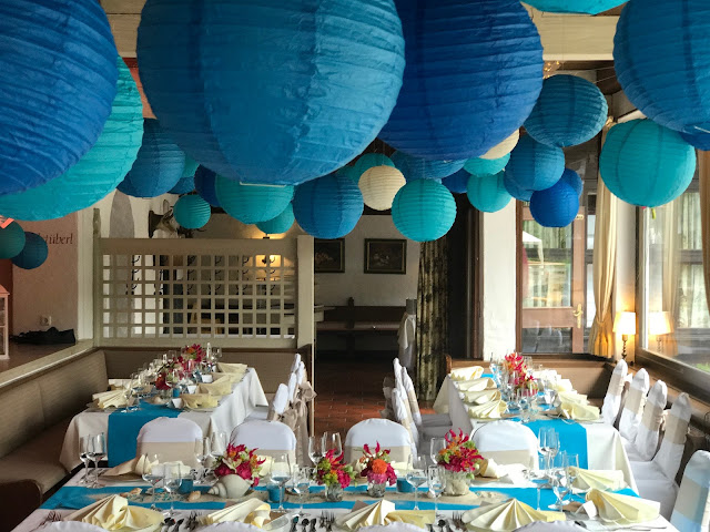 Pompom-Himmel, exotisch heiraten, Malediven Karbiik-Hochzeit im Seehaus, Riessersee Hotel Garmisch-Partenkirchen Bayern, Hochzeitsplanerin Uschi Glas