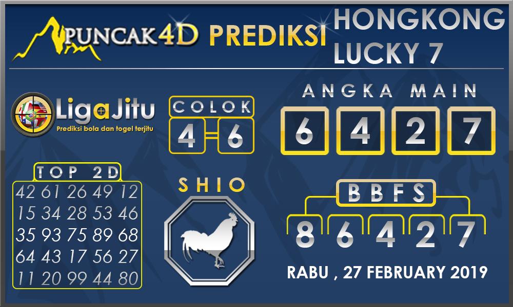 Prediksi Togel HONGKONG LUCKY7 PUNCAK4D 27 FEBRUARY 2019