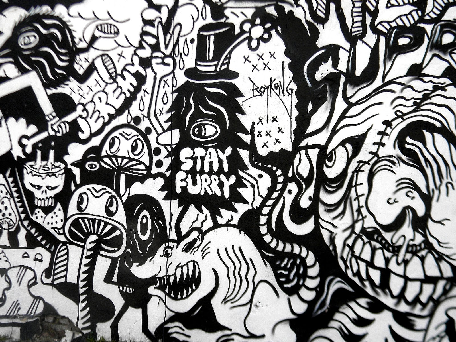 Street Art Graffiti Black And White | www.pixshark.com ...