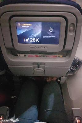 Espaço interno da Lufthansa
