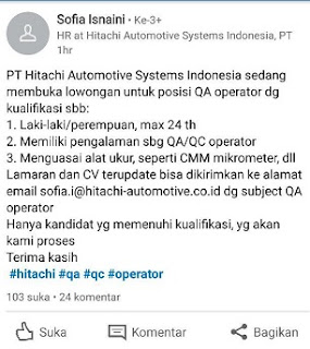 PT Hitachi Automotive Systems Indonesia