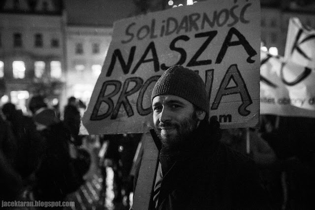demonstracja, krakow, prawo, pis, opozycja, zima