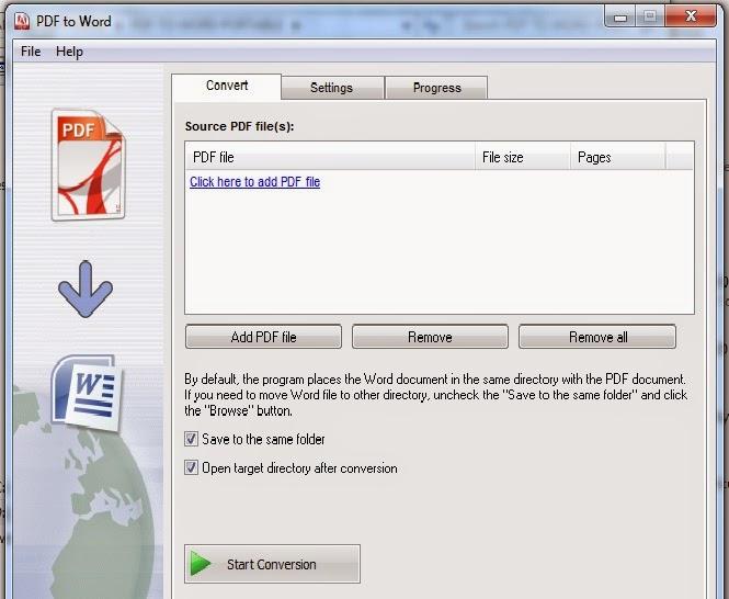 cara convert pdf to word