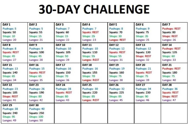 30 Day Workout Plan | injeniouslife