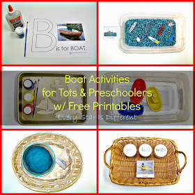 Boat Activities for Tots & Preschoolers with Free Printables