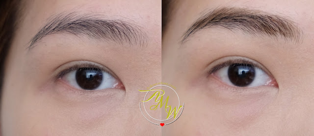 before and after photo of Snoe What's Up Brow!  Eyebrow Embroidery Review by Nikki Tiu