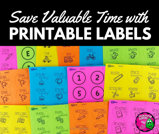 Save Valuable Time with Printable Sticker Labels
