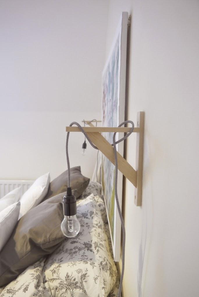Diy bedside lights for B q bedroom lighting