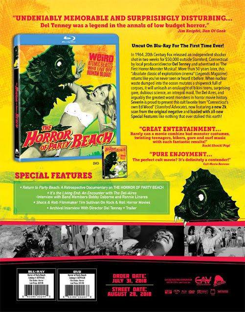 Severin Films Presents Del Tenney's THE HORROR OF PARTY BEACH (1964) – the Original Horror-Monster Musical Uncut on Blu-ray For the First Time Ever!