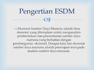 Pengertian, Struktur dan Keterangan ESDM