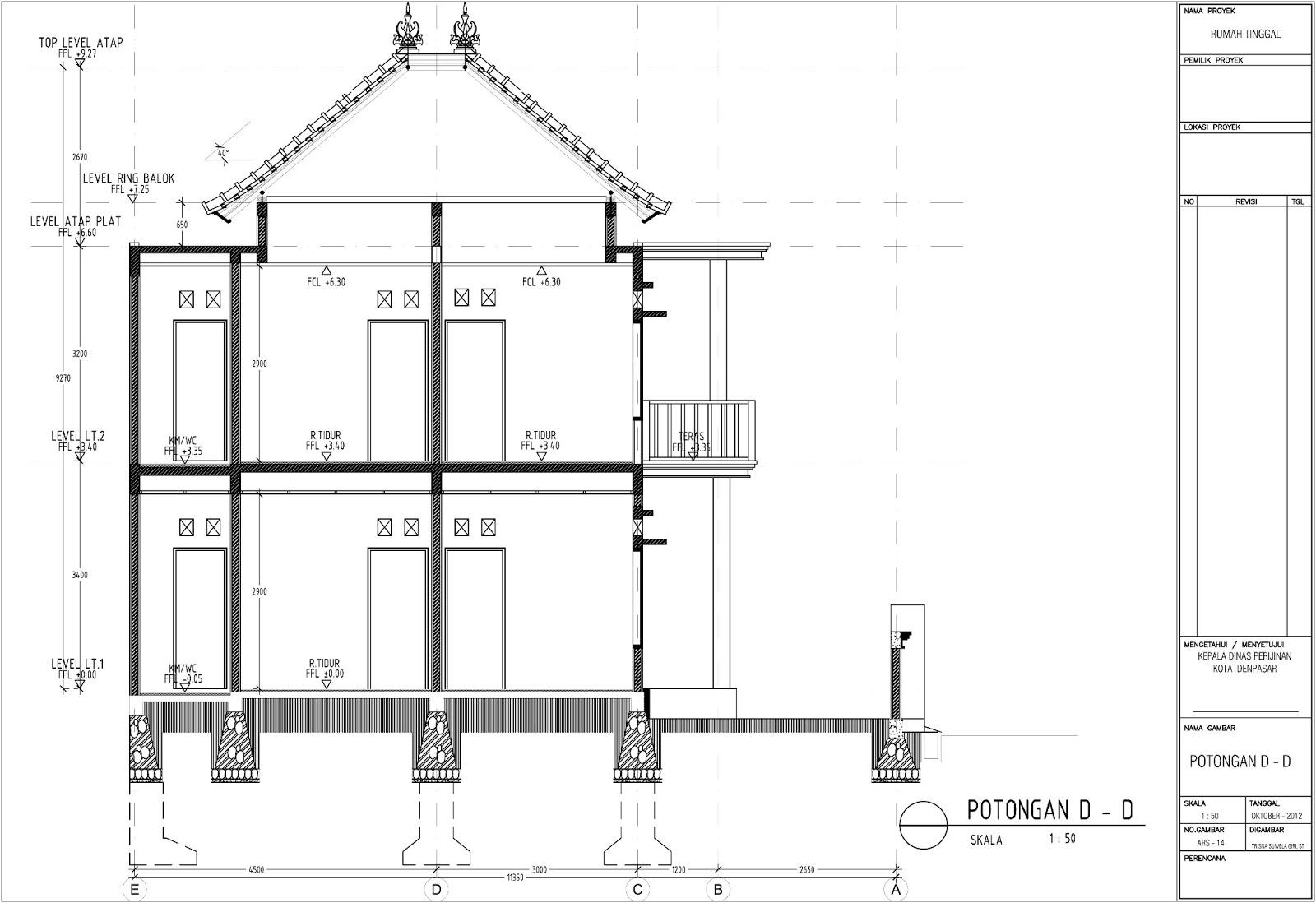 Denah Rumah 2 Lantai Model 2018 Denah Kolom Rumah 2 Lantai