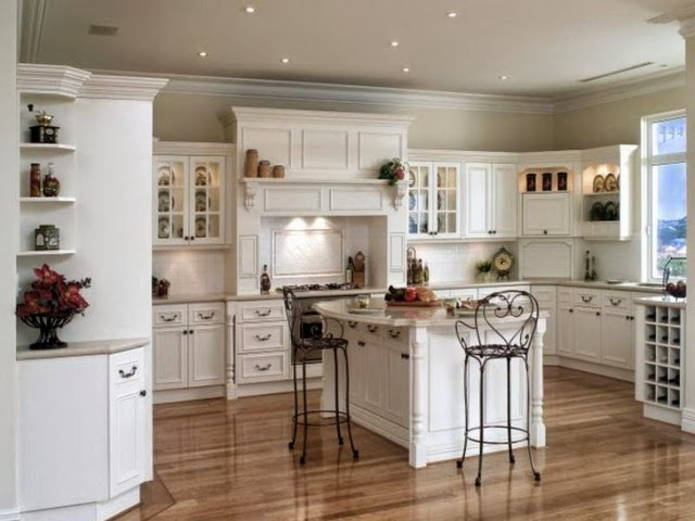 beautiful cocina color blanco with cocinas clasicas blancas - Cocinas Clasicas Blancas