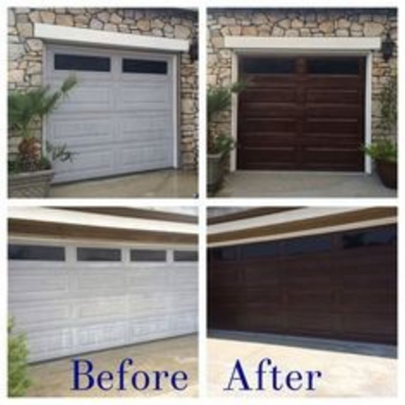 painting garage door before and after #5