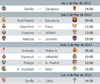 Liga Bbva Calendario Y Resultados.Calendario La Liga Bbva Jornada 26 2012 2013 Apuntes De Futbol