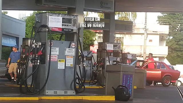 O dia em que Foz do Iguaçu ficou sem gasolina