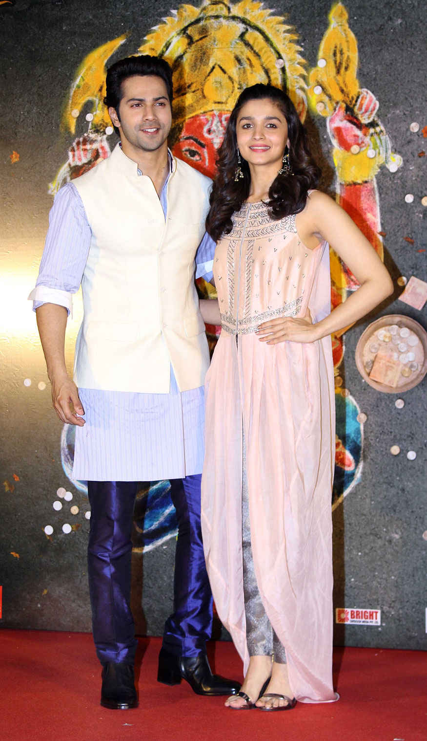 Varun Dhawan and Alia Bhatt at Bhikari Marathi Film Song Launch