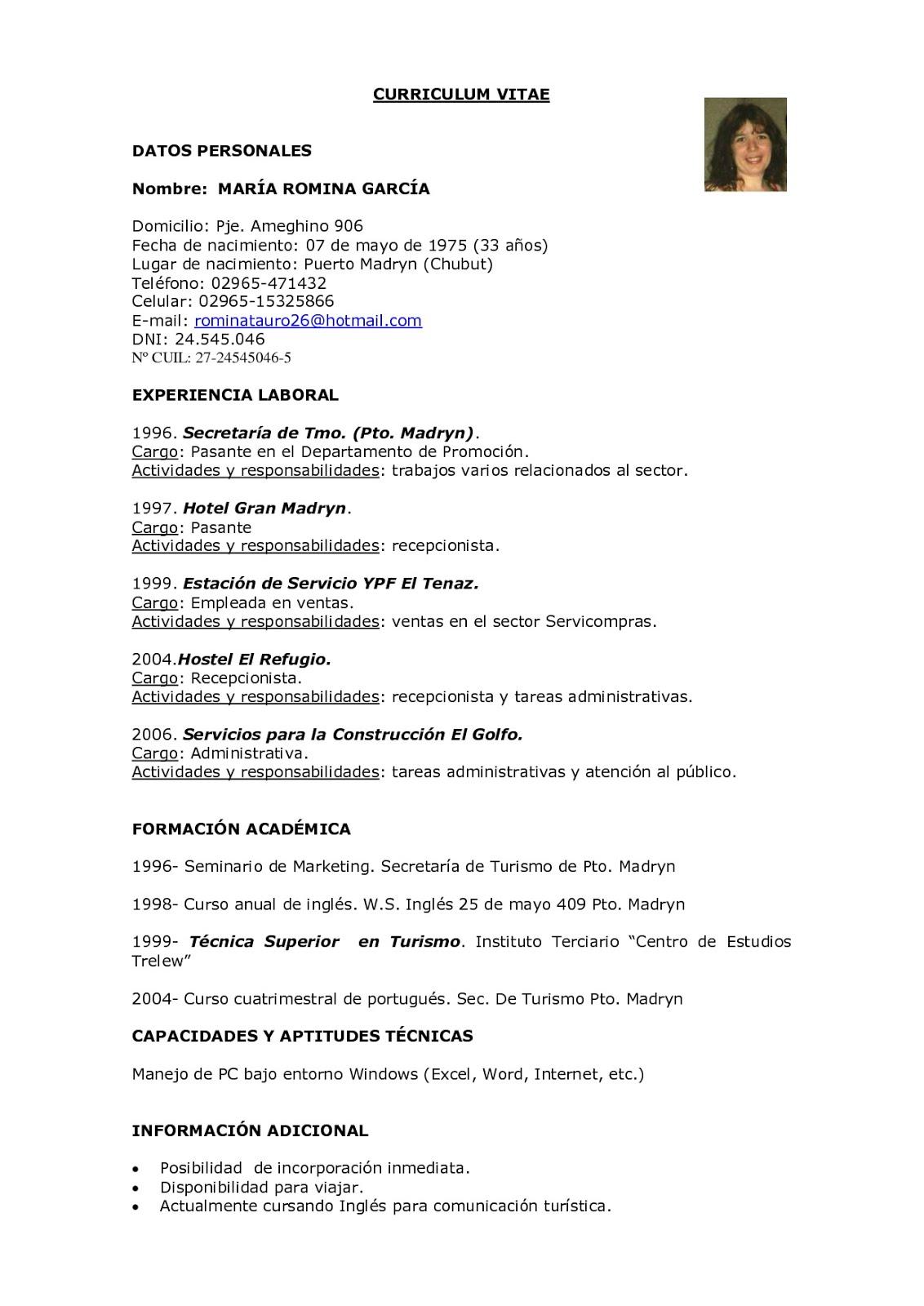 F O L Modelos De Curriculum Vitae B Christian Kari B