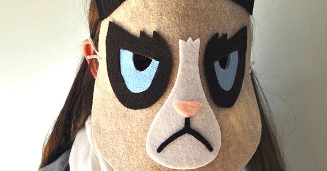 Snowdrop And Company Diy Grumpy Cat Mask