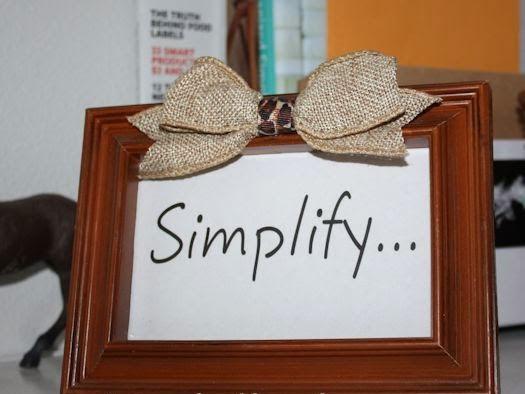 One word - simplify