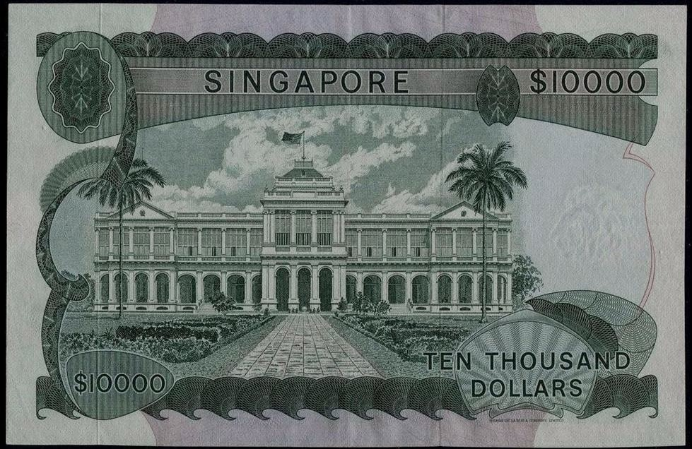 10000 Singapore dollar note SGD Orchid