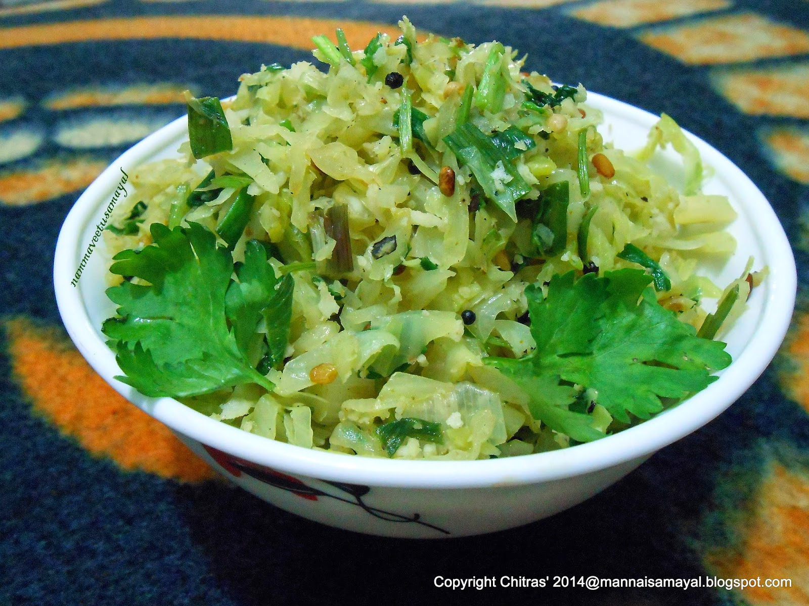 Muttaikos [ cabbage ] Poriyal