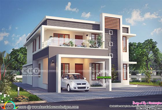 Excellent contemporary Kerala home design 2631 sq-ft