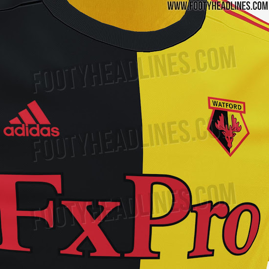 7d2b2fc0b1e The back of the Watford 2019-20 shirt is all-yellow.