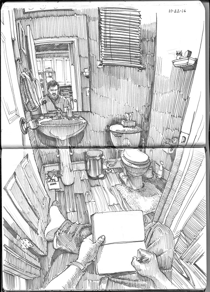 06-Downstairs-Bath-Paul-Heaston-Urban-Sketcher-in-Moleskine-Drawings-www-designstack-co