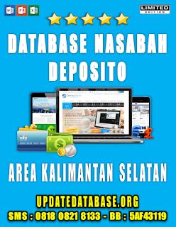 Jual Database Nasabah Deposito Kalimantan Selatan