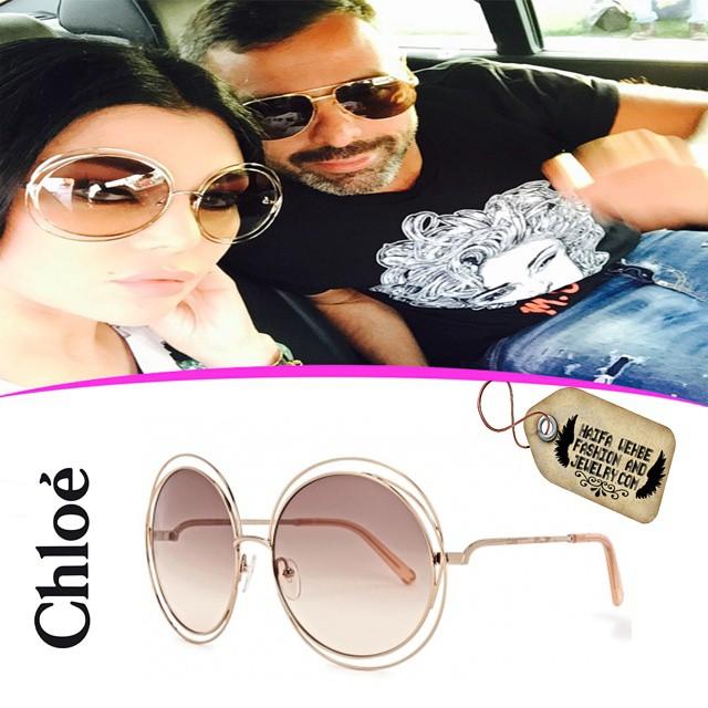 82c5e6800ad6 Haifa Wehbe Wearing Chloe CE114S Sunglasses