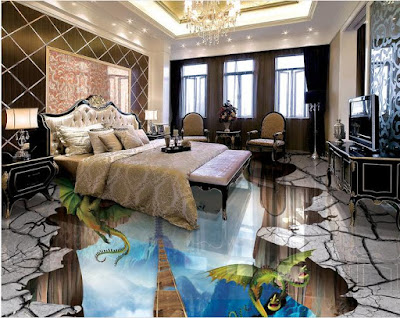 3D floor art for bedroom floors