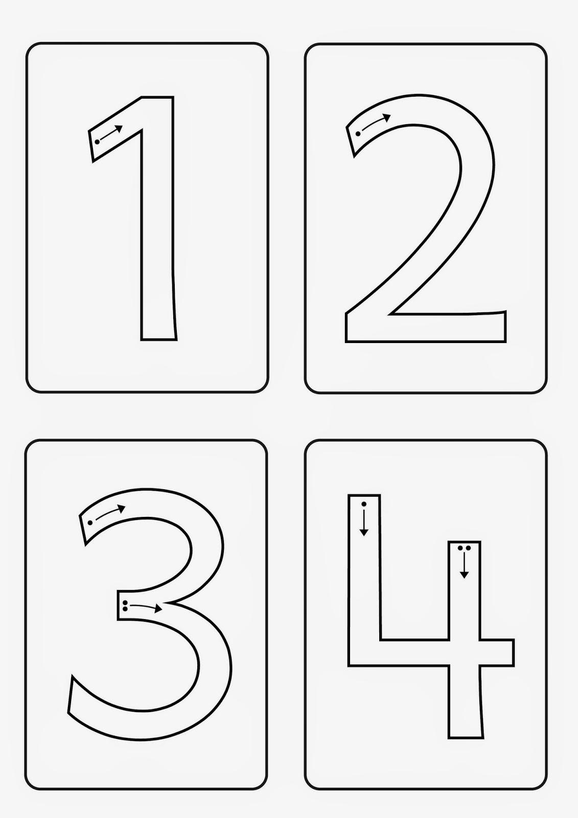 Lernstübchen: die Ziffern von 0 bis 9